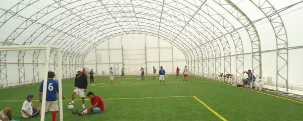 Big Top Shelters : Sports buildings fabric for by big top